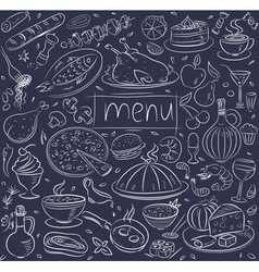 food sketch vector image vector image