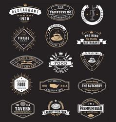 food vintage design elements logos badges vector image