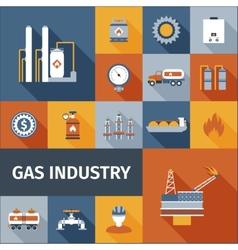 Gas Icon Flat vector