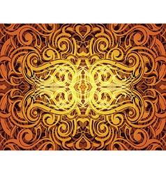 Golden ornament vector
