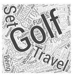 Golf Accessories for Frequent Fliers Word Cloud vector
