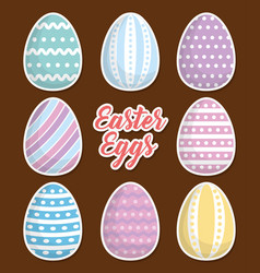 happy easter icon image vector image