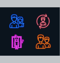 human resources elevator and teamwork icons vector image