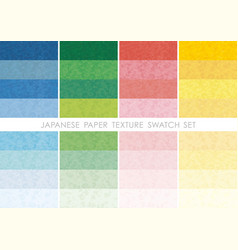 japanese paper swatch set vector image