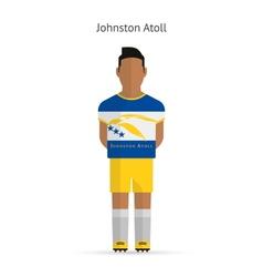 Johnston Atoll football player Soccer uniform vector image