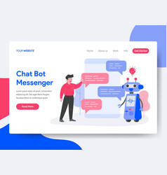 Landing page template chat bot messenger vector