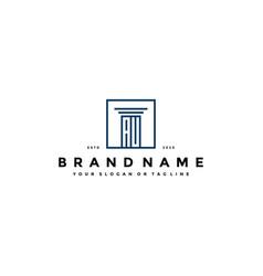 Letter au law logo design vector