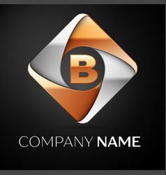Letter b logo symbol in the colorful rhombus on vector