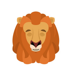 lion sleeping emoji face avatar wild animal vector image