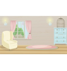 Living Room Vintage Cartoon Background vector image