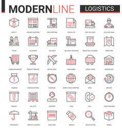 Logistics transportation delivery service flat vector