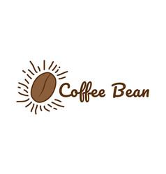 logo coffee beans vector image