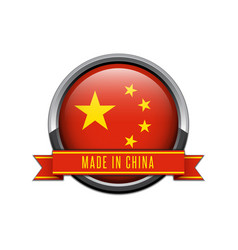 made in china glossy label vector image