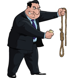 Man with noose vector