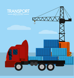 Maritime transport industry vector