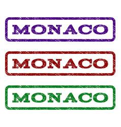 Monaco watermark stamp vector