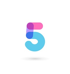 Number 5 logo icon design template elements vector