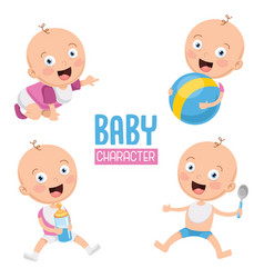 of baby vector image