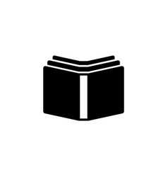 open books flat icon vector image