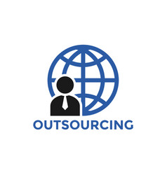 outsourcing icon design template isolated vector image