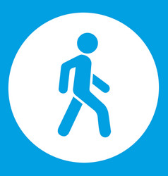 pedestrians only road sign icon white vector image