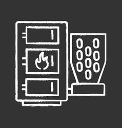 Pellet boiler chalk icon vector
