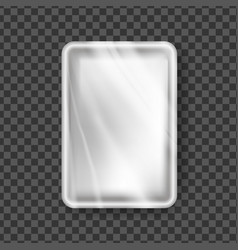 plastic tray transparent food container vector image