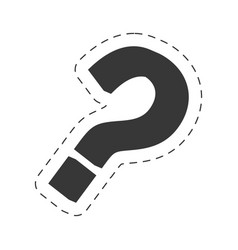 question mark image black vector image