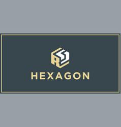 Rs hexagon logo design inspiration vector