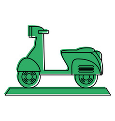 Scooter motorcycle icon image vector