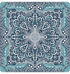 seamless blue pattern of spirals swirls vector image