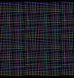 seamless irregular thread grid pattern vector image