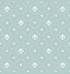 seamless pattern with royal lilies vector image