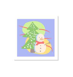 Seasonal winter holiday celebration social media vector