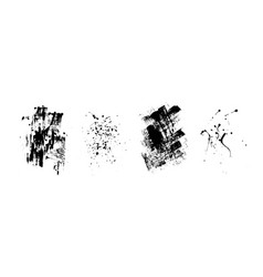 set of artistic black grunge backgrounds vector image
