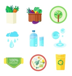 Set of nature and organic banners vector image