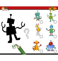 Shadows activity for kids vector