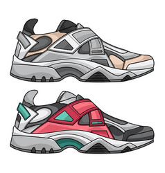 sneakers set fashion vector image