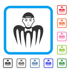 spectre boy framed joyful icon vector image