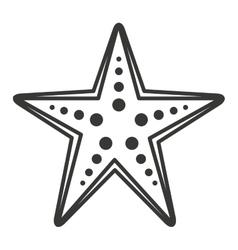 starfish sea cute icon vector image