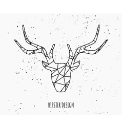 Stylized deer head abstract geometric design vector