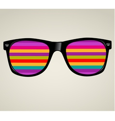 Sunglasses abstract background vector