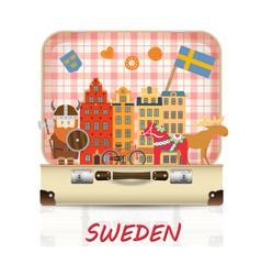 sweden landmark global travel and journey vector image