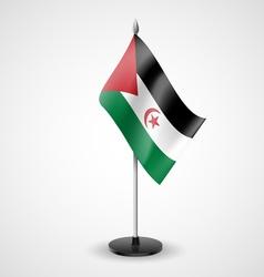 Table flag of Sahrawi Arab Democratic Republic vector
