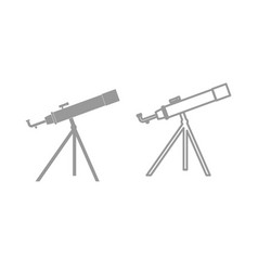 telescope the grey set icon vector image