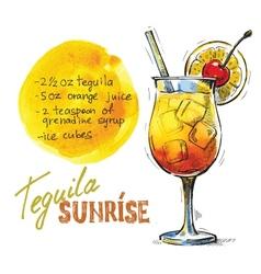 Tequila sunrise vector