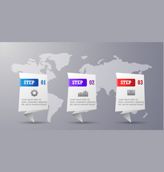three steps infographic vector image