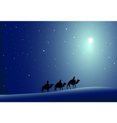 Three wise men and Star vector image