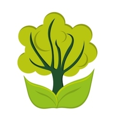 Tree green flat icon vector