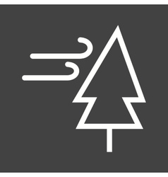 Tree with Wind vector
